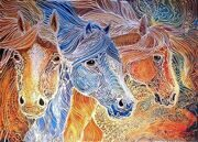 1410937_equus-trio--batik-on-canvas